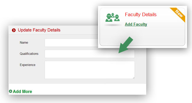 Add Faculty details