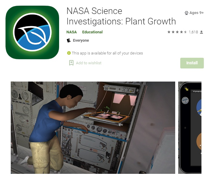 NASA Science Investigations - Plant Growth