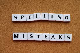 Spelinh mistakes